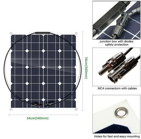 50w flexible solar panel flexible and convenient cheap
