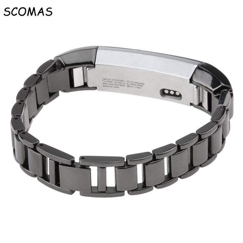 SCOMAS Wirst Band for Fitbit Alta for Fitbit Alta HR Stainless Steel Replacement Band Watch Sports Wrist Strap Clasp Smart Watch