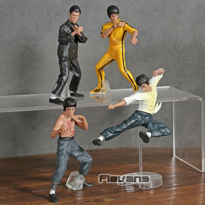Bruce Lee Miniaturas em PVC 4 peças