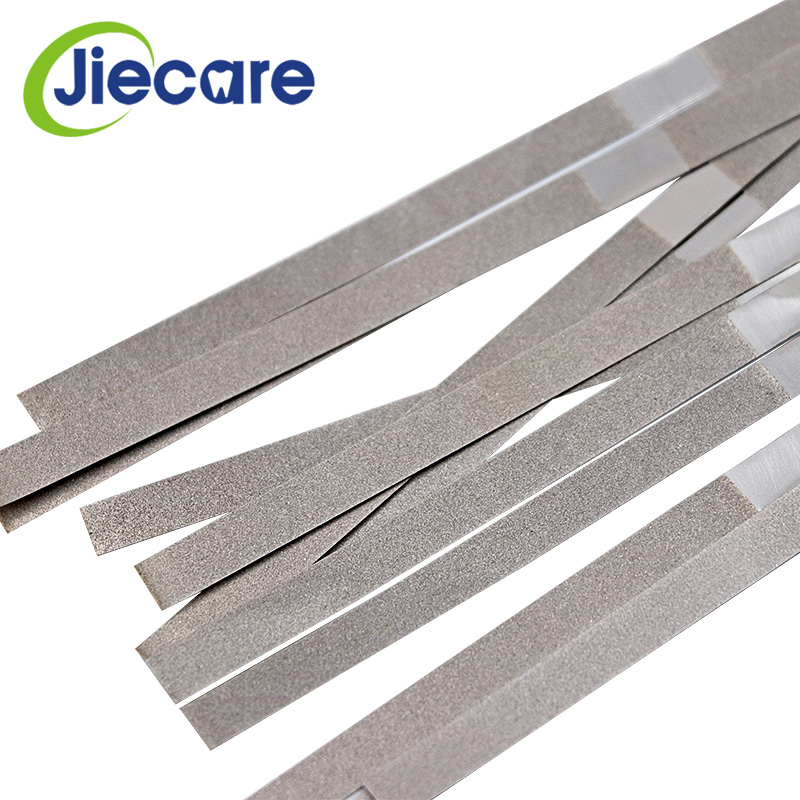 12 Pcs/Box Dental Metal Polishing Stick Strip Single Side Of Diamond Sanding Surface Orthodontic IPR Diamond Abrasive Strips