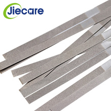 12 Pcs/Box Dental Metal Polishing Stick Strip Single Side of Diamond Sanding Surface Orthodontic IPR Diamond Abrasive Strips