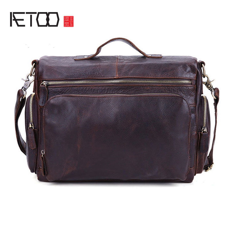 AETOO New Europe and the United States retro leather men bag men crazy horse skin business briefcase Messenger bag aetoo europe and the united states fashion new men s leather briefcase casual business mad horse leather handbags shoulder