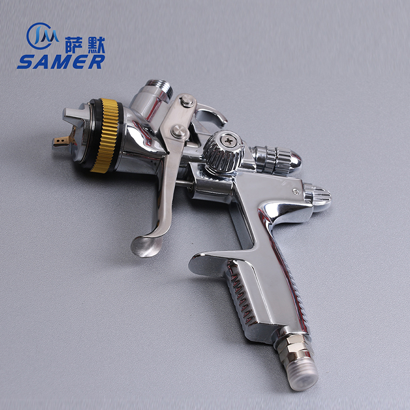 SAMER DN10B HVLP Air Spray Gun Paint Gravity Feed 1.3mm 600ml Advanced Atomization Technology High transfer efficiency advanced engine technology