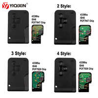 Tarjeta inteligente YIQIXIN 3 botones 433Mhz ID46 PCF7926 PCF7947 Chip para Renault Megane 2 3 Scenic Grand 2003-2008 llave de coche remota