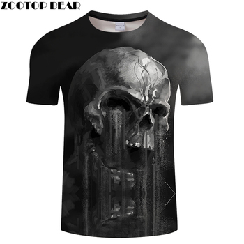 FLowing 3D Skull T shirt Men t-shirt Summer tshirt Groot Tees Funny Tops Streatwear Camiseta Short Sleeve DropShip ZOOTOPBEAR