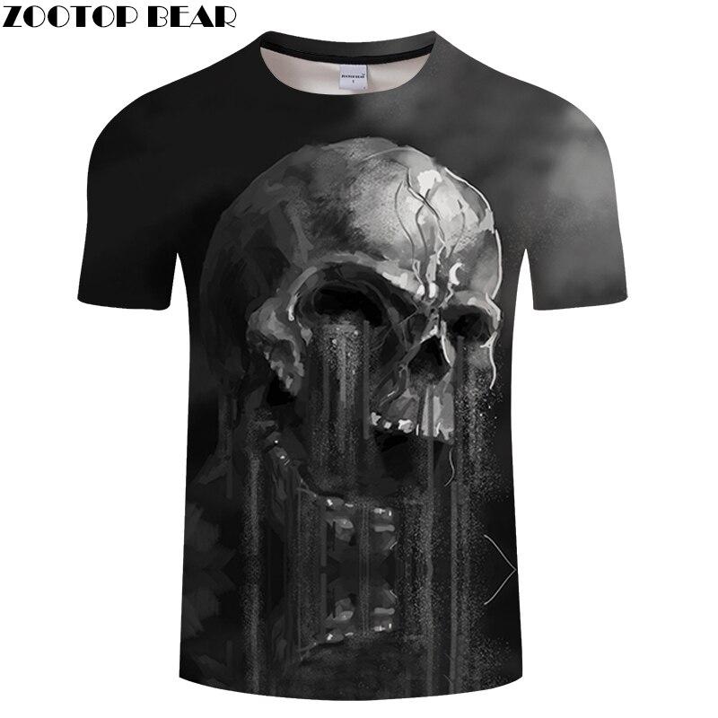 FLowing 3D Skull T shirt Men t-shirt Summer tshirt Groot Tees Funny Tops Streatwear Camiseta Short Sleeve DropShip ZOOTOPBEAR