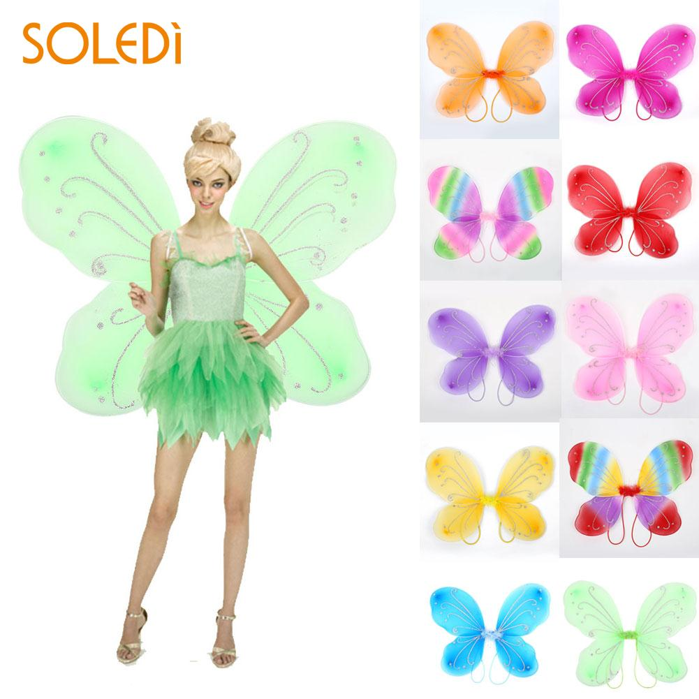 Adult Butterfly Wings Fairy Dress Up Costume Gift Photo Props Decor