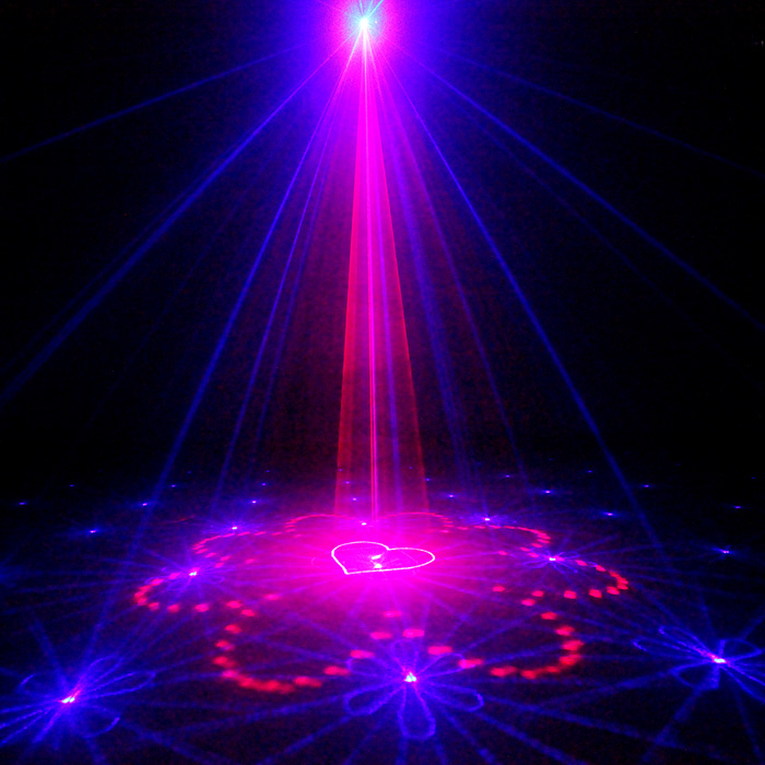 Chims DJ Laser Lighting 3 Lens 40 Pattern Club RB Laser Blue LED Stage Party Professional Projector Light Xmas Disco Music L40RB the latest 2lens 40 pattern laser light for dj disco club party stage lighting effect page 2