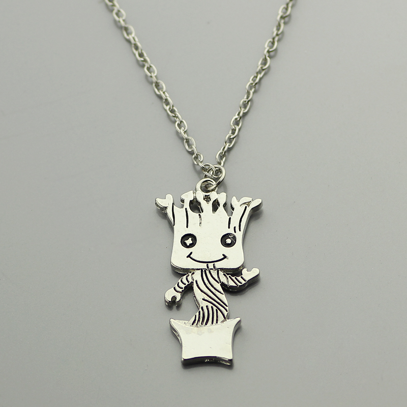 wholesale Baby Pendant Necklace Movie Guardians of the Galaxy Baby Silver Plated Im Kawaii Fashion Jewelry