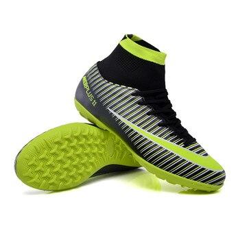 Zhenzu hombres tobillo Turf sole fútbol Botas Zapatos Superfly Fútbol tacos  sneakers UE 34-46 voetbalschoenen b7bddce020ef5