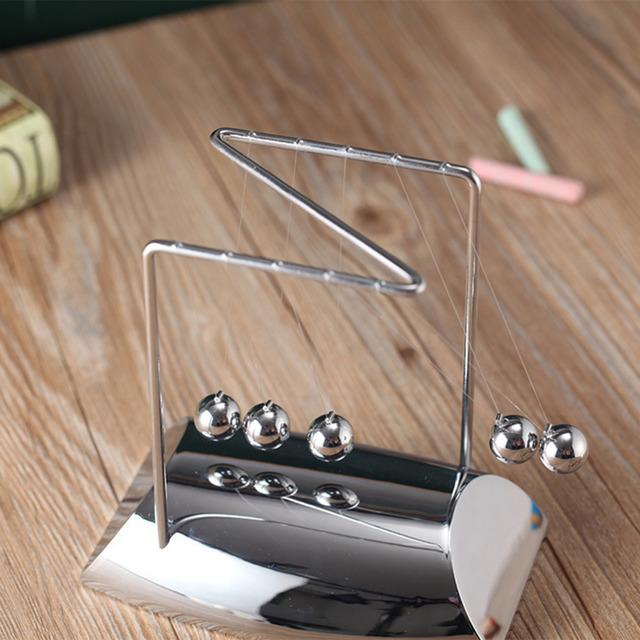 Z-Shaped Chrome Desktop Newton Pendulum