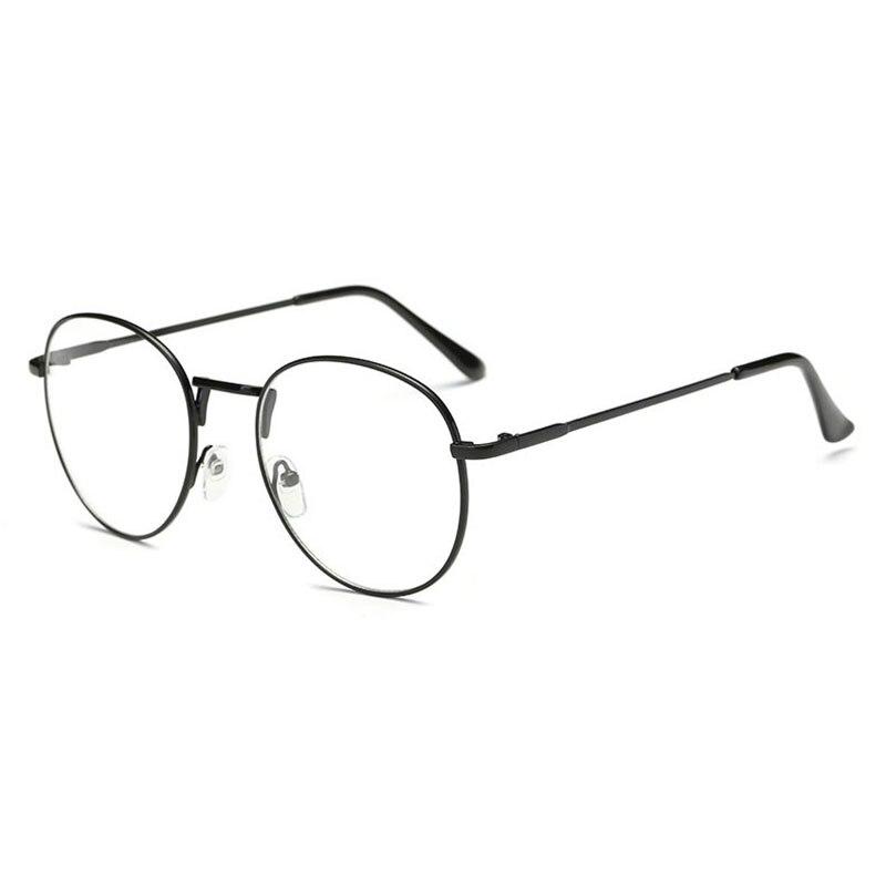 Gözlük Çerçevesi yuvarlak gözlük Optik Çerçeve Tam Jant Alaşım Gözlük Erkekler ve Kadınlar için Reçete Gözlük Gözlük