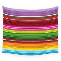 Mexican Blanket Rainbow Wall Tapestry