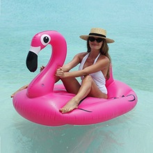 150CM 60Inch Giant Inflatable Flamingo Women Pool Float Pink Swan Cute Ride-On Outdoor Water Party Toys For Adult Children boia 70 inch 1 9m giant swan pvc inflatable pink flamingo ride on pool floating toy swim mat for adult child float chair pf025