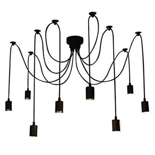 Vintage Multiple Adjustable DIY Ceiling Spider Lamp Pendant Lighting Modern Chic1.5 M, 8pcs Lamp cap 8 arms 2017 vintage edison multiple diy ceiling spider lamp light pendant lighting modern chic industrial dining freeshipping