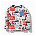 Varejo bebés meninos roupas de manga longa crianças moda infantil meninos verão camiseta meninos meninos projeto casual wear