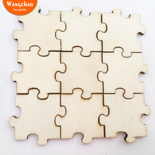50pcs DIY Wooden Craft Jigsaw Puzzles for Kids Creative Baby Shower Decorations  Party Supplies Accessories Material