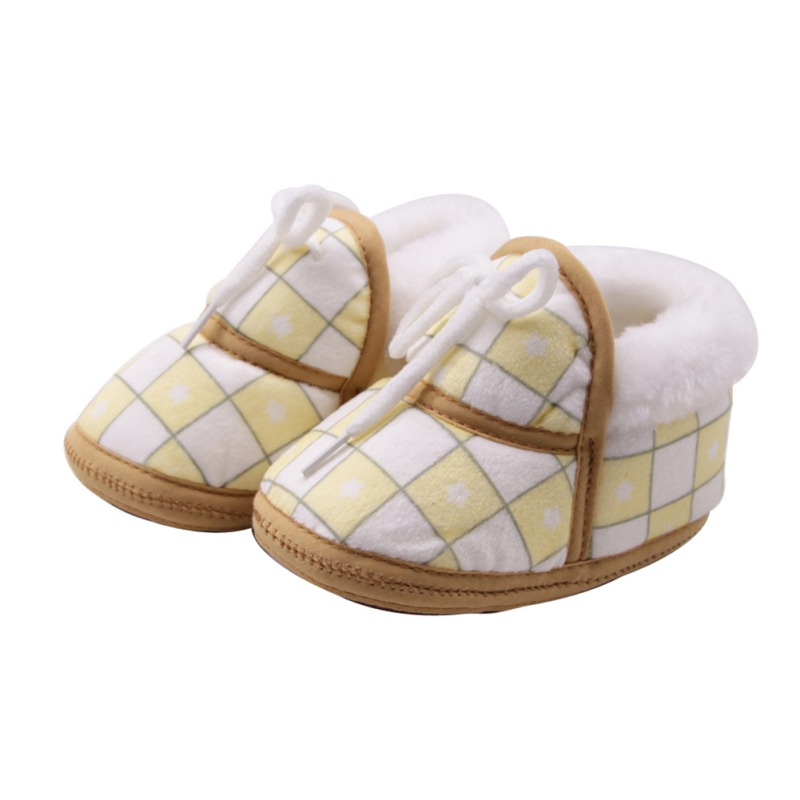 Baby Shoes Boots First-Walkers Baby-Boys-Girls Winter Warm Cotton Soft Print for 0-12-Months