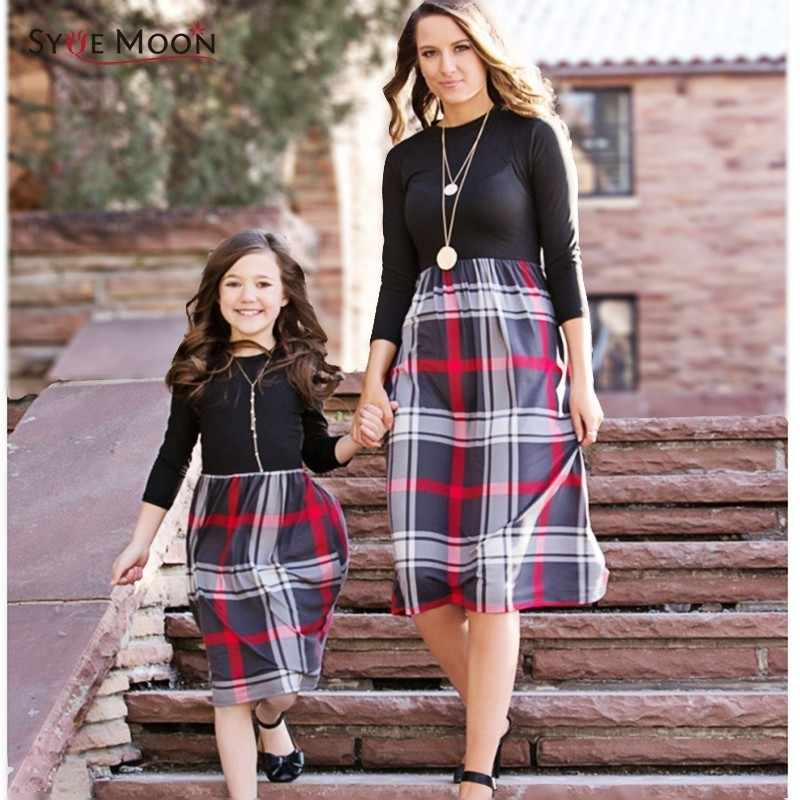 a3bc9ad4b7c6 Detail Feedback Questions about Mother Daughter Dresses Autumn ...
