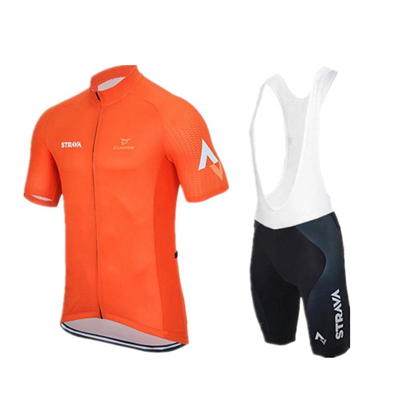 Prix pour Cyclisme maillot ropa ciclismo/cyclisme vêtements/maillot Vélo hommes D'été style ciclismo Sportswear/chaude/À Manches Courtes/orange jaune
