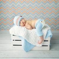 Baby Newborn Photography Props Costume Hand Crochet Knit Infant Beanie Hat And Pants For Boy Girl