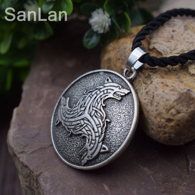 Wolves celtic spiritual vikings magic nordic amulet pendant necklace viking celtic wolf pendants sanlan jewelry in chain necklaces from jewelry wolves celtic spiritual vikings magic nordic amulet pendant necklace viking celtic wolf pendants sanlan jewelry Choice Image