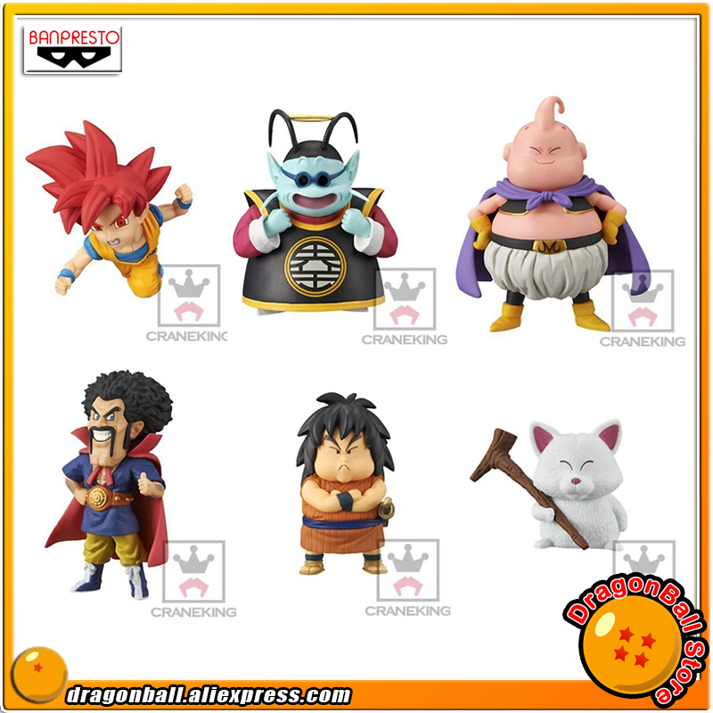 Dragon Ball SUPER Original BANPRESTO WCF Collection Figure Vol.3 Set 6 Pcs Goku Vegeta Goten Trunks Fortuneteller Baba Gohan
