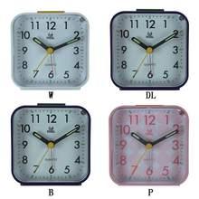 Alarm Clock Square Small Bedside Travel Mute Cute Portable creative fashion student small clock Battery Operate
