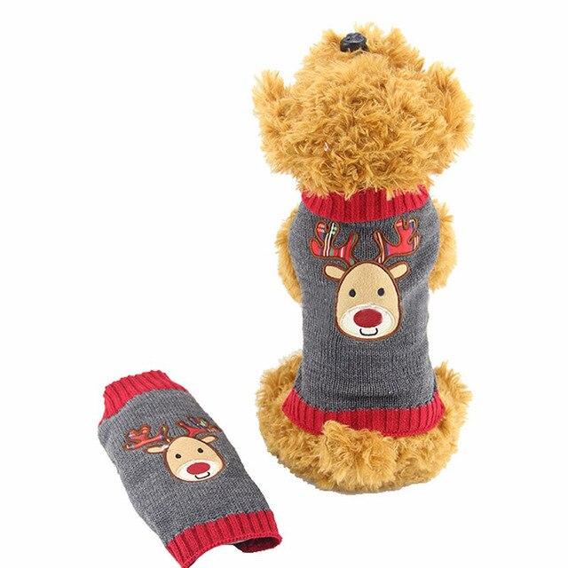 Mascotas perro gato lindo Punto de ganchillo suéter pullover ropa ...