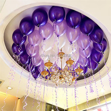 Free Shipping 12inch 2.8g Thicken 50pcs Pearl Balloon Wedding Birthday  Latex Baloons Pink gold blue purple Party decoration