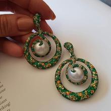купить GODKI Famous 2019 New Trendy Women Earrings Imitation Pearl AAA Cubic Zirconia Drop Earrings For Women Wedding Party Accessories дешево