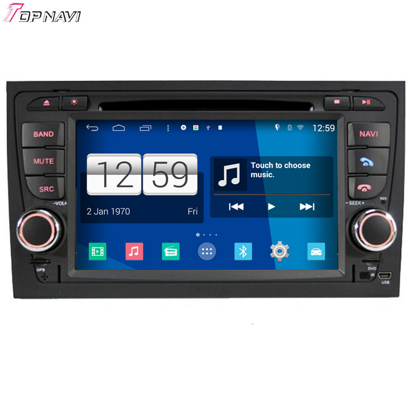 Top Free Shipping 7'' Quad Core S160 Android 4.4 Car DVD GPS For A4 For Audi With Stereo Radio Mirror Link BT Wifi Audio