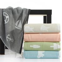 150 200cm 200 230cm 100 Cotton Jacquard Adult Gauze Carpet Towelling Coverlet Comfortable Bedroom Towel Blanket