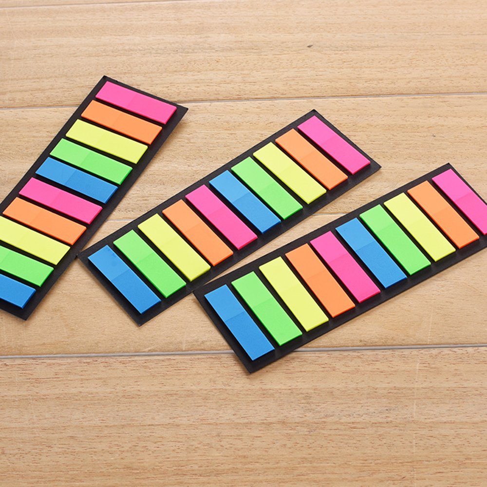 Creative Transparent Fluorescent Planner Stickers Classification Index Stickers BookMarker Memo Pad