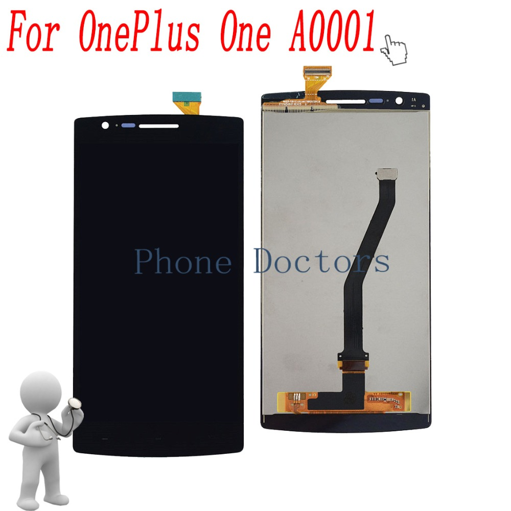 5.5'' Full LCD DIsplay + Touch Screen Digitizer Glass Assembly For OnePlus One A0001 ; Black ; New ;100% Tested