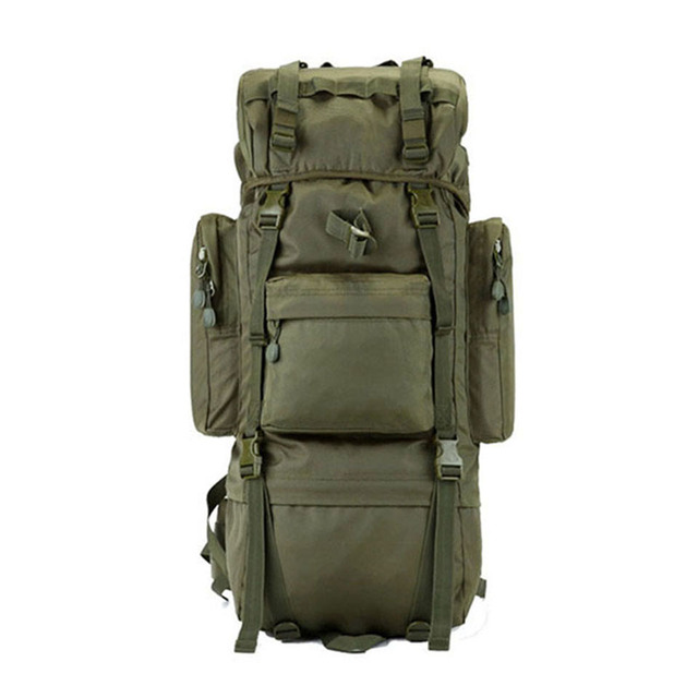 b8836b6077b8 Large-capacity Tactical bag mountaineering bag 65L Outdoor Camping hiking camouflage  backpack waterproof cover military