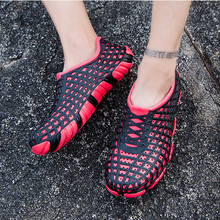 New Men Beach Shoes Outdoor Water Sports Portable Anti-skid  Upstream Adult Hollow Air-permeable sandy beach