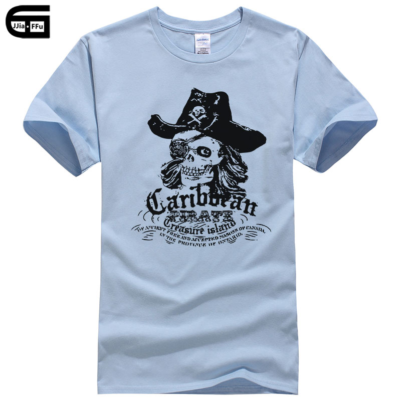 Popular Fashion Men T-shirt Pirates Of The Caribbean Captain Cotton Print Tee Summer Style Casual t shirt Male T167