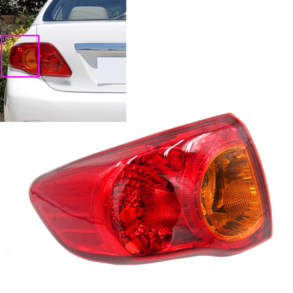 Car Styling Outer Rear Left Brake Light Lamp Taillight Tail Light Taillamp Driver Side for Toyota Corolla 2009 2010 81560-02460 special car trunk mats for toyota all models corolla camry rav4 auris prius yalis avensis 2014 accessories car styling auto