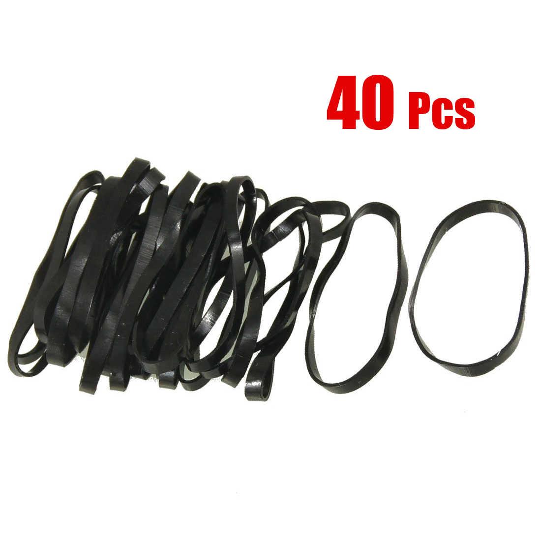 SAF-新しい 40 個実用黒弾性ゴムバンドヘアホルダー