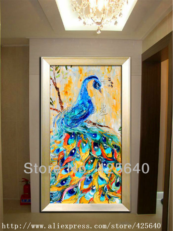Peacock Oil painting On Canvas Wall Pictures Painting For Living Room Wall Art peacock decorations for home green 2Peacock Oil painting On Canvas Wall Pictures Painting For Living Room Wall Art peacock decorations for home green 2
