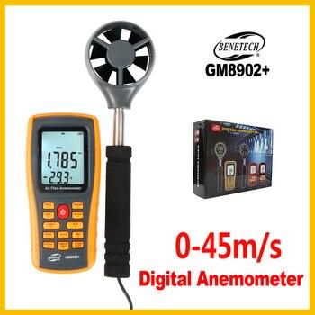 Digital Handheld Wind Speed Anemometer Wind Flow Speed Meter Air Velocity Temperature Air quantity Measuring GM8902+BENETECH