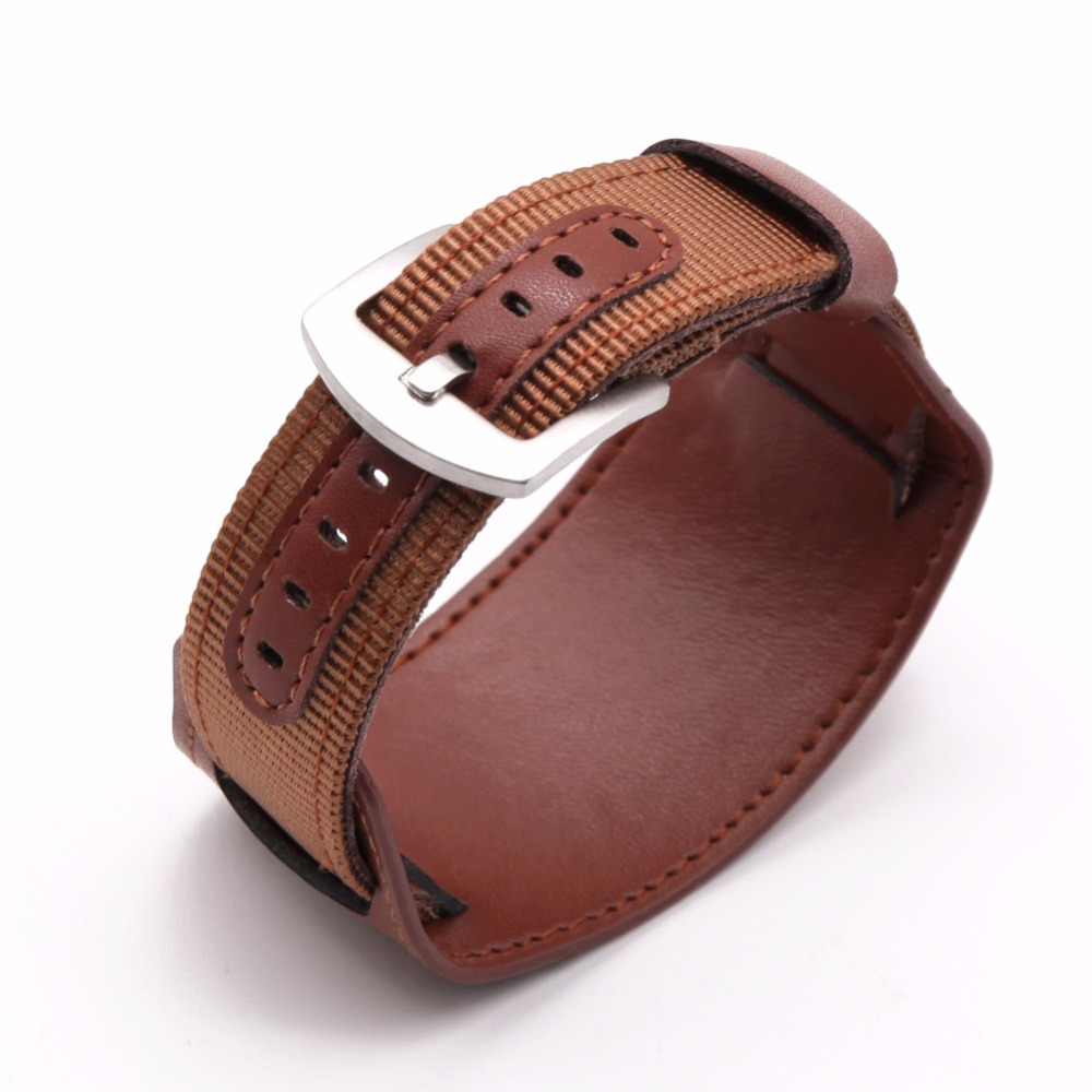 New BUMVOR Nylon Watch Band Watchband Stainless SteelLeather Strap 18mm 20mm 22mm 24mm Watch Accessories Men Woman High Quality