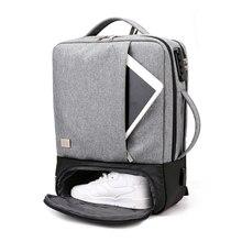 กระเป๋าเป้สะพายหลังผู้ชาย Anti Theft 15.6 นิ้วแล็ปท็อปกระเป๋าเป้สะพายหลังกระเป๋าชาย USB โน้ตบุ๊คธุรกิจกระเป๋าเป้สะพายหลังวัยรุ่นกระเป๋า