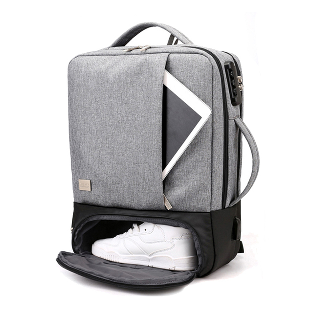 Mochila de viagem masculina, antirroubo 15.6 laptop Polegada bolsa masculina para notebook usb impermeável