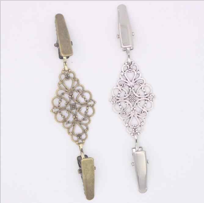 1 قطع الرجعية سترة سترة كليب أبازيم مشبك معدني الأزياء أزرار معدنية للملابس الديكور الملابس السنانير