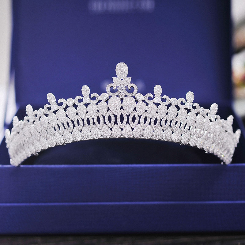 New Vintage Wedding Bridal  Crown Tiara Luxury Royal Custom Crown Ziron Brides Coronet Hairband Bridal Hair Jewelry