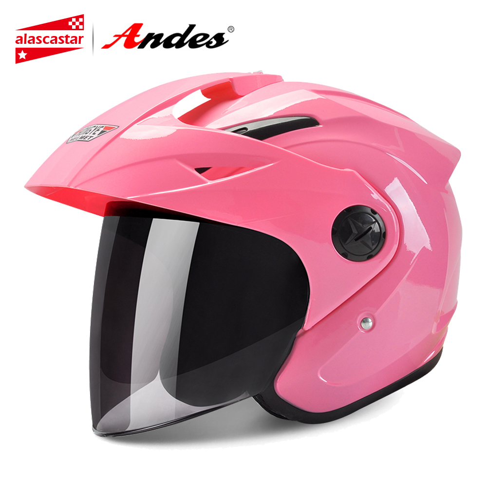 цена на Andes Motorcycle Helmet 3/4 Open Face Moto Helmet For Scooter Unisex Biker Motocross Motorbike Capacete Moto With Anti-fog Visor