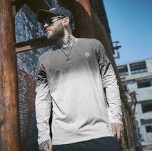 high quality 2019 Brand Men's t shirt Cotton Gradient print Fashion Jogging gym man tee top streetwear T-shirt plus size xl-6xl