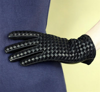 Winter Women Hand in Leather Glove Genuine Goatskin Leather Gloves